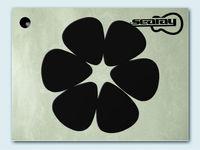 searay 0.71mm blank  plain black nylon guitar picks