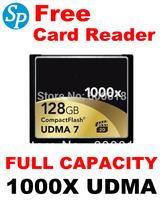 Full Capacity 1000X  UDMA 7 Compact Flash CF Memory Card 128GB MLC For Cameras DVR , Free shipping SPCF128L