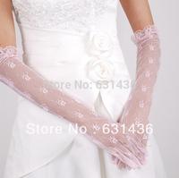 2014 Marriage Wedding Gloves Pink Yarn Bridal Gloves Lace Wedding Accessories Fashion Drop Shipping
