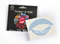 Water transfer printing Lip Sticker Transfer Disposable Lips Tattoo Lipstick Art Makeup Tools12pcs/lot Free Shipping