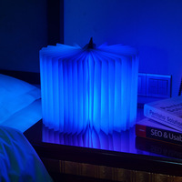 Upgraded Big Size USB Charging LED Book Form Night Light Home Decoration Lamp 3 Colors Free Shipping with gift box