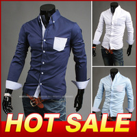 2013 New Items Design brand style Design Shirts For Men High Quality Casual Slim Fit Stylish Dress Shirts Free Shipping Y122
