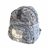 Fashion Girls student Canvas Cute Glasses Backpacks school bag glasses Leisure Shoulder Bags Purse