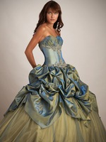 Free Shipping 2013 Noble Strapless Sleeveless Appliques Beaded Taffeta Custom Made Long Ball Gown Formal Party Quinceanera Dress