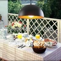 Wholesale 110v 220v e27*1 lamp holder D30*H15cm aluminum items pendant lights for restaurant lighting outside black inside gold
