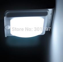Motion Sensor LED Porch Light Sleek Silver Color and Solar Powered Free Shipping(China (Mainland))