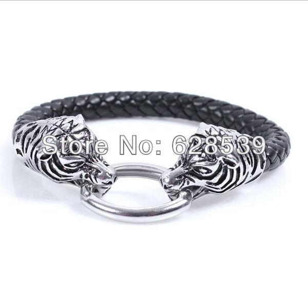 2014 Direct Selling Bracelets For Pulseiras Femininas Men Jewelry News 8 Mm Snake Leather Bracelet Men's Small Bulk Wholesale(China (Mainland))