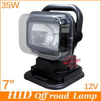 Wireless remote control, turn rotating 360 left/right, up/down 20 swing,12V 35W Hid Xenon Work Light/lamp IP65 Spot Beam