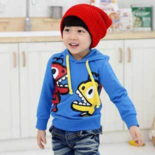 Wholesales 5pcs/lot Kids Clothing Little Boy Girls Fashion Dinosaur Warm Hoodies, 2015 Children Sweatshirts, Free Shipping MY012(China (Mainland))