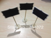 wholsesale -free shipping 100 x  Mini chalkboards on the stick For Wedding Party Christmas Decorations
