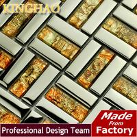 2014 Building Materials [kinghao] Discount Tile Backsplash Mosaics Tiles Glass Kitchen Supplies Art Living Room Wall Kf154811