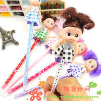 Free shipping Doll pen cute stationery beautiful small doll gift  commodity  cheap toy pencil with Doll Girl Children's Toysoll