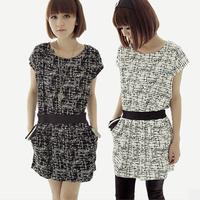 free shipping New women's short-sleeved floral dress Lady's fashion dresses s m l xl xxl 3xl 4xl 5xl 6xl