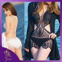 Free Shipping Handmade Fishing Net Cutout Knitted Sexy Crochet Bikinis, Hollow Out Summer Hot Swimwear 2014,Sexy Swim Suits Sale