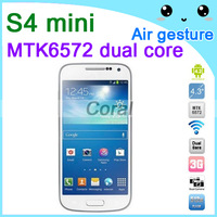 "Android phones MTK6572 Mini S4 mini i9500 unlocked cell phone,Android 4.2.2 GPS WIFI Bluetooth 4.3"" inch Mini phone"
