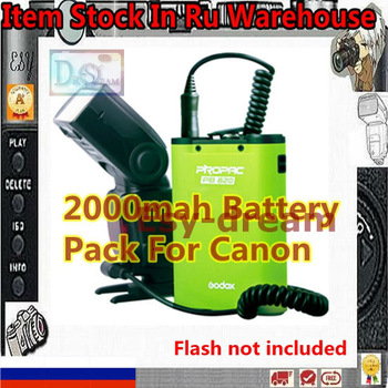 RU STOCK PB820 Flash Power Battery Pack Godox For Canon 430EZ 540EZ 550EZX 580EX 580EXII R82C