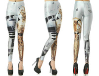 Wholesale! 2013 New Women Artoo and Threepio Leggings Star War Print Skinny Pants Elastic S117-103