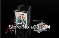 Apperance-Well-Polished-Acrylic Penholder Photo Frame with Magnet