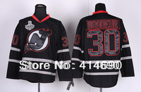 Free Shipping 2013 New Cheap Authentic New Jersey Devils Ice Hockey Jerseys #30 Martin Brodeur Jersey Wholesale Mix Order