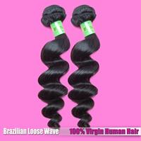"EVA'S hair product soft 2 pcs lot mixed length 12""-28"" Brazilian Loose Wave Hair Weave free shipping"