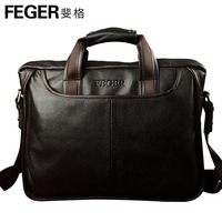 Feger man bag male cowhide briefcase handbag commercial genuine leather backpack cross-body bag shoulder bag