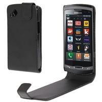 Vertical Flip Leather Case for Samsung Wave 2 / S8530