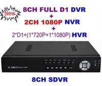 Video Recorder CCTV 8CH Full D1 H.264 DVR Standalone Super DVR SDVR/HVR/NVR Security System 1080P HDMI Output DVR Free Shipping