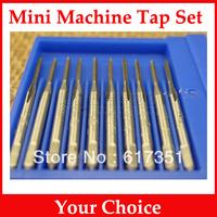 12PCS Mini Size Machine Tap Set M1/ M1.2/M1.4/M1.5/M1.6/M1.7/M1.8/M2/M2.2/M2.3/M2.5/M2.6 Micro Screw Taps