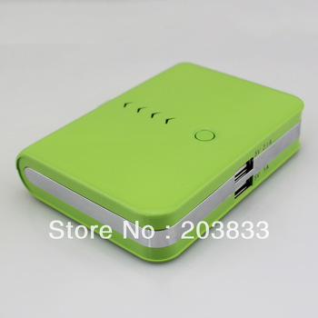 delivery through US Warehouse by USPS(2-5days) Green 20000mAh Power Bank USB External Emergency Battery Charger For iPod i9300