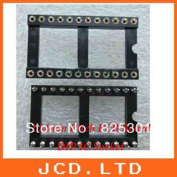 24Pin IC Socket (Machine tool) wide  /Round pin IC Socket  connector base adaptor