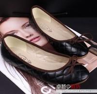 Free shipping New Arrival Cow Muscle Women Single Flat Shoes  Fashion Single Casual Flats For Women Big Size 35-41