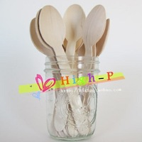 Disposable Wooden Flatware 16CM Knife/Fork/cutlery/spoon/ Eco-Friendly for party weddings ice cream small cupcake birch wood