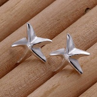 Free Shipping!!Wholesale 925 Silver Earring 925 Silver Fashion Jewelry Fashion Seastar Earrings SMTE033