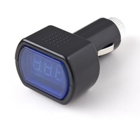 LED Display Cigarette Lighter Electric Voltage Meter For Auto Car Battery 10pcs/lot