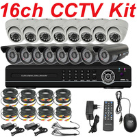 Wholesale 16ch channel cctv security kits cctv surveillance monitor system ir night vision hd thermal camera 16ch D1 HD DVR HDMI