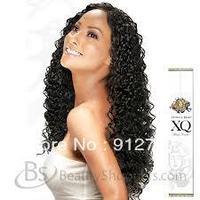 Brazilian virgin u part wigs natural color,deep wave