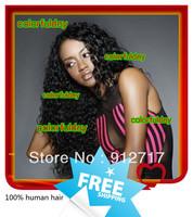Fastion!!!!100%virgin malaysian hair u part wigs,free shipping