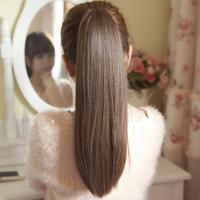 Horseshoers bandage lacing fake bianzi long straight hair horsetail partial extension hair slice of wig fake hair girls