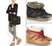 Winter Isabel Marant Women Snow Boots Sheepskin Wool One piece Platform Warmly Ankle Winter boots Fashion free shipping