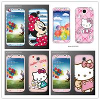 Diy mickey.minnie hello kitty kawaii cute cartoon sticker for samsung galaxy S4 S IV 4 cell phone  cover screen protect film