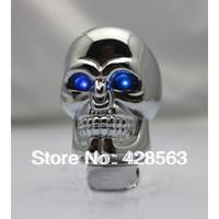 Free Shipping Chrome Skull Shape, Personality Modified Gear Knob for Manual, Shifting Gear Knob , Semi Universal