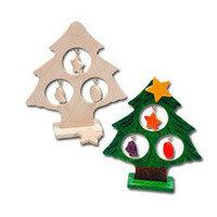 6PCS/LOT.DIY & Paint unfinished wood christmas tree,Christmas crafts,Indoor christmas decoration,Art funChristmas toys.