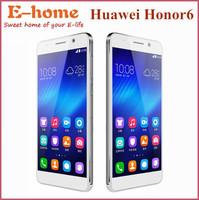 Original Huawei Honor 6 phones Dual Sim 4G FDD LTE WCDMA Hisilicon Kirin 920 1.7Ghz Octa Core 3GB RAM mobile phone Free Shipping