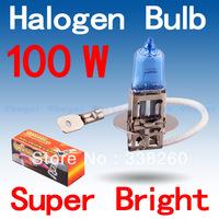 H3 Super Bright White Fog Halogen Bulb Hight Power 100W Car Headlight Lamp Parking Car Light Source parking
