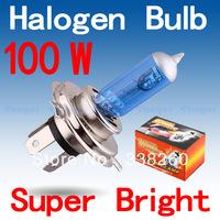 H4 Super Bright White Fog Halogen Bulb Hight Power 100W Car Headlight Lamp Parking Car Light Source parking