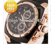 FASHION DESIGN V6 watch with 3colors choice,PU plastic band,quartz movement,big dial unisex sports watch  freeshipping 1pcs/lot