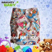 Wholesales-Special Colors Nappies Double Rows Snaps Nappies with inserts Baby Cloth Diaper 10 sets (1+1)