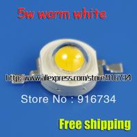 100% 10 pcs 5W Warm White High Power LED Lamp Beads 290~300 Lm 2800K~3200K DIY