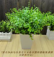 Green Home artificial flower,  eucalyptus plastic artificial flower, home decoration flower.Green bouquet  10pcs/lot