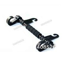 aluminium alloy + plastic Multi Function Organizer Seat Car Double Hook Rails Clothes Bag Holder Hanger black 14630(China (Mainland))